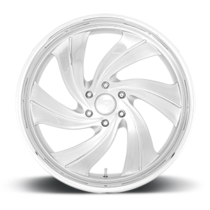 Cyclone 6 - Precision Series Brushed Gloss Clear w/ Polished Details 6 lug