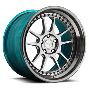 Niche Forged Chicane 5 Polished DDT w/ Teal