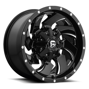 Cleaver - D574 Gloss Black & Milled 5 lug