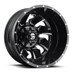 Fuel Dually Wheels Cleaver Dually Rear - D574 8 Black & Milled