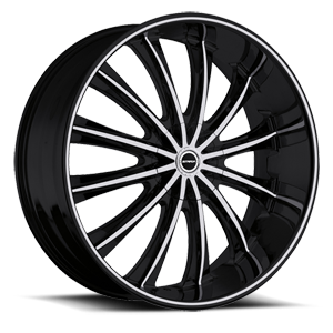 Strada Wheels Corona 6 Black Machined