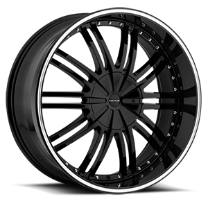 Cratus CR008 6 Gloss Black Machined Pinstripe