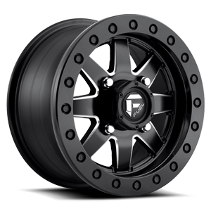 Fuel UTV Wheels Maverick - D938 Beadlock ( HD RING ) 4 Matte Black & Milled