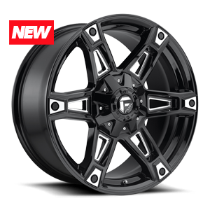 Fuel 1-Piece Wheels Dakar - D622 5 Gloss Black & Milled