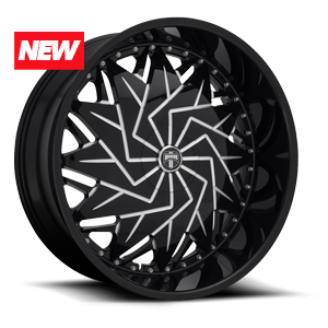 DUB 1-Piece Dazr - S231 5 Gloss Black & Milled
