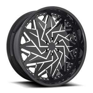 Dazr - XA20 Gloss Black & Milled 6 lug