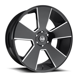 DUB 1-Piece Del Grande - S230 6 Gloss Black & Milled
