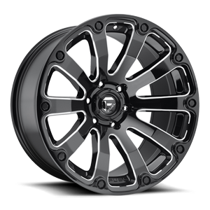 Fuel 1-Piece Wheels Diesel - D598 6 Black & Milled
