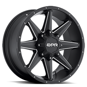 DPR Stealth 6 Black with Milled Spokes
