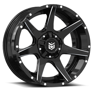 Dropstars Offroad DS647 5 Black with Milled Spokes