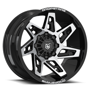 Dropstars DS653 8 Gloss Black with Mirror Machined Face