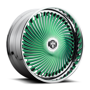 DUB Spinners Diragio - S713 5 Green w/ chrome accents
