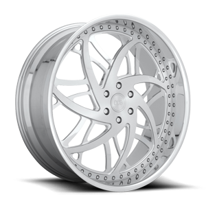 DUB Forged XB80 6 26x10 | Brushed Face/ Polished Accents / Polished Lip