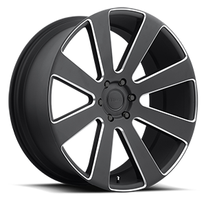 8-Ball - S187 Black & Milled 6 lug