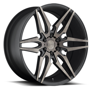 Attack-6 - S211 Black & Machined with Dark Tint 6 lug