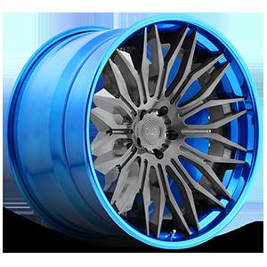 DUB Forged Cavat - XB40 5 Brushed Double Dark Tint | Hi Polish Pica-Blue