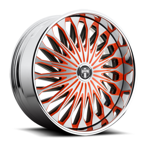 DUB Spinners Fate - S718 5 Brushed face w/ orange windows