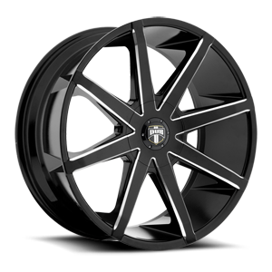 DUB 1-Piece Push - S109 5 Gloss Black & Milled 26
