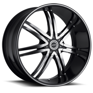 Strada Wheels Diablo 5 Black Machined