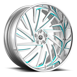 Savini Diamond Lusso 5 Brushed w/ Teal Accents