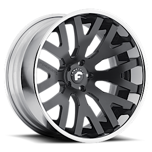 Forgiato 2.0 DITO-ECL 5 Smoke Satin Cut-Spoke Center, Chrome Lip