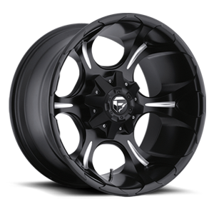 Fuel Deep Lip Wheels Dune - D523 5 Black & Milled