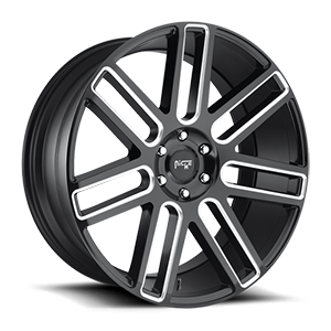 Elan - M096 Gloss Black & Milled 6 lug