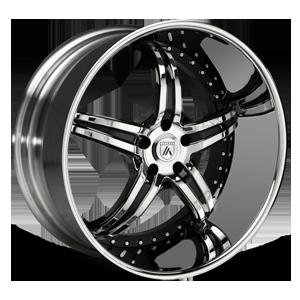 Asanti Forged Wheels ELT Series ELT144 5 Chrome with Black Inserts
