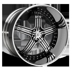 Asanti Forged Wheels ELT Series ELT155 5 Black Machined with Chrome Lip