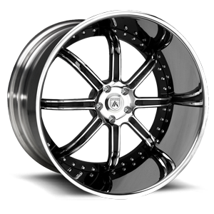 Asanti Forged Wheels ELT Series ELT406 5 Chrome w/ Black Inserts