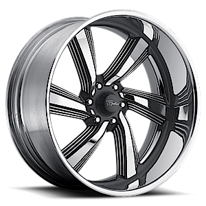 Raceline Wheels Explosion 5 6 Black with Polished Accents