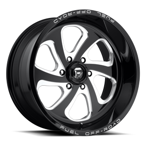 Flow 6 - D587 Black & Milled 6 lug