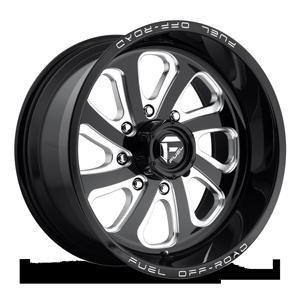 Fuel 1-Piece Wheels Flow 8 - D587 8 Black & Milled