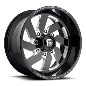 Fuel 1-Piece Wheels Turbo 8 - D582 8 Black & Milled