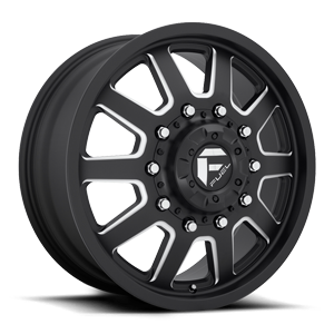 Fuel Dually Wheels FF09D - Front 10 Matte Black & Milled