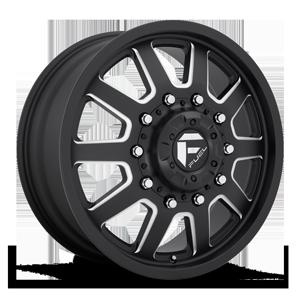 FF09D - Front Matte Black & Milled 10 lug