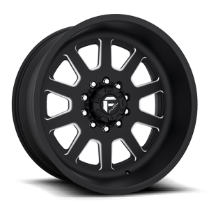 Fuel Dually Wheels FF09D - 10 Lug Front Super Single 10 Matte Black & Milled