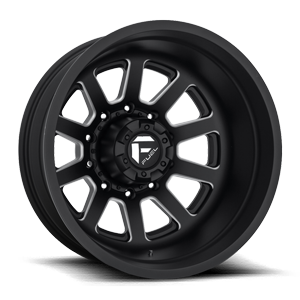 Fuel Dually Wheels FF09D - REAR 10 Matte Black & Milled