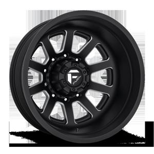 FF09D - Rear Matte Black & Milled 10 lug