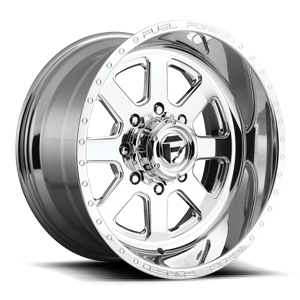 FF09D - 8 Lug Super Single Front Polished 8 lug