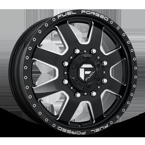 FF09D - 8 Lug Front Gloss Black Milled 8 lug