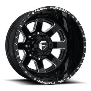FF09D - 8 Lug Rear Gloss Black Milled 8 lug