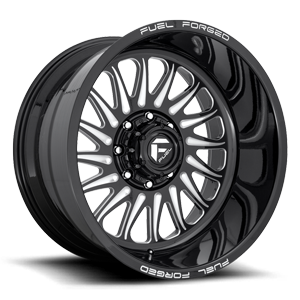 Fuel Forged Wheels FF103 8 Gloss Black & Milled