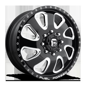 FF12D - Front Gloss Black & Milled 8 lug