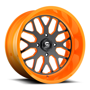 Fuel UTV Wheels FF19 - UTV 4 Gloss Black Face | Orange