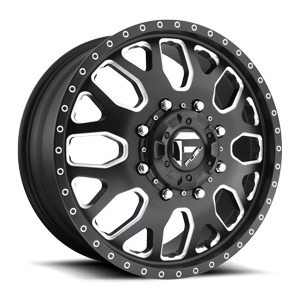 Fuel Dually Wheels FF19D - Front 8 Matte Black & Milled