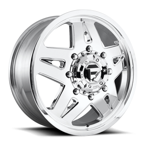 Fuel Dually Wheels FF21D - Front 8 Polished