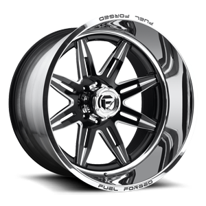 Fuel Forged Wheels FF26 | Concave 8 Black & Milled | Polished Lip