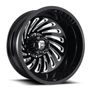 Fuel Dually Wheels FF28D - Rear 8 Gloss Black & Milled