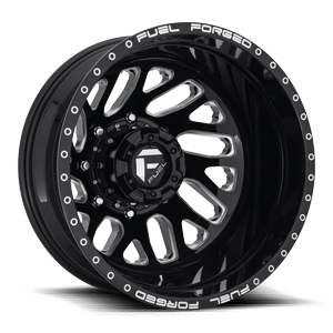 FF29D - Rear Gloss Black & Milled 8 lug
